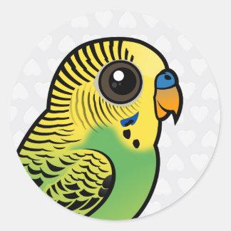 Pegatina Redonda Budgerigar de Birdorable
