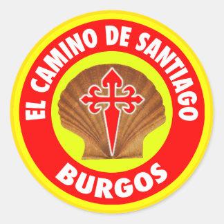 Pegatina Redonda Burgos