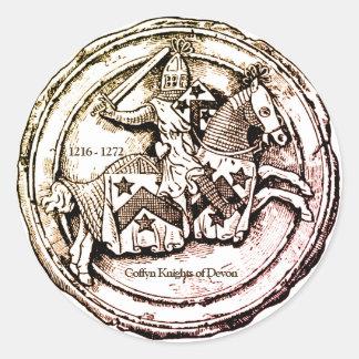 Pegatina Redonda Caballeros de Coffyn de Devon 1216 - 1272