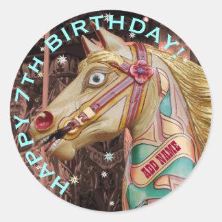 Golden Fairground Horse, Custom Birthday