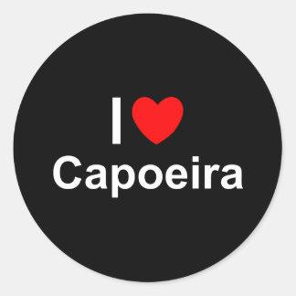 Pegatina Redonda Capoeira