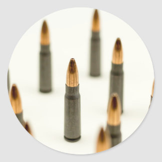 Pegatina Redonda Cartucho 7.62x39 de AK47 de la bala de la munición