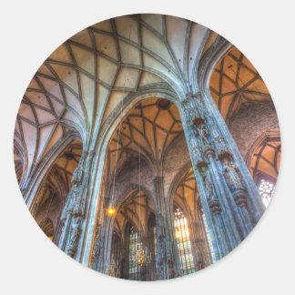 Pegatina Redonda Catedral Viena del St Stephens