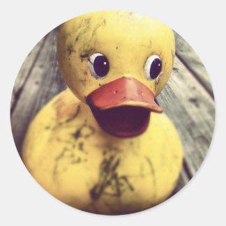 Pegatina Redonda caucho ducky