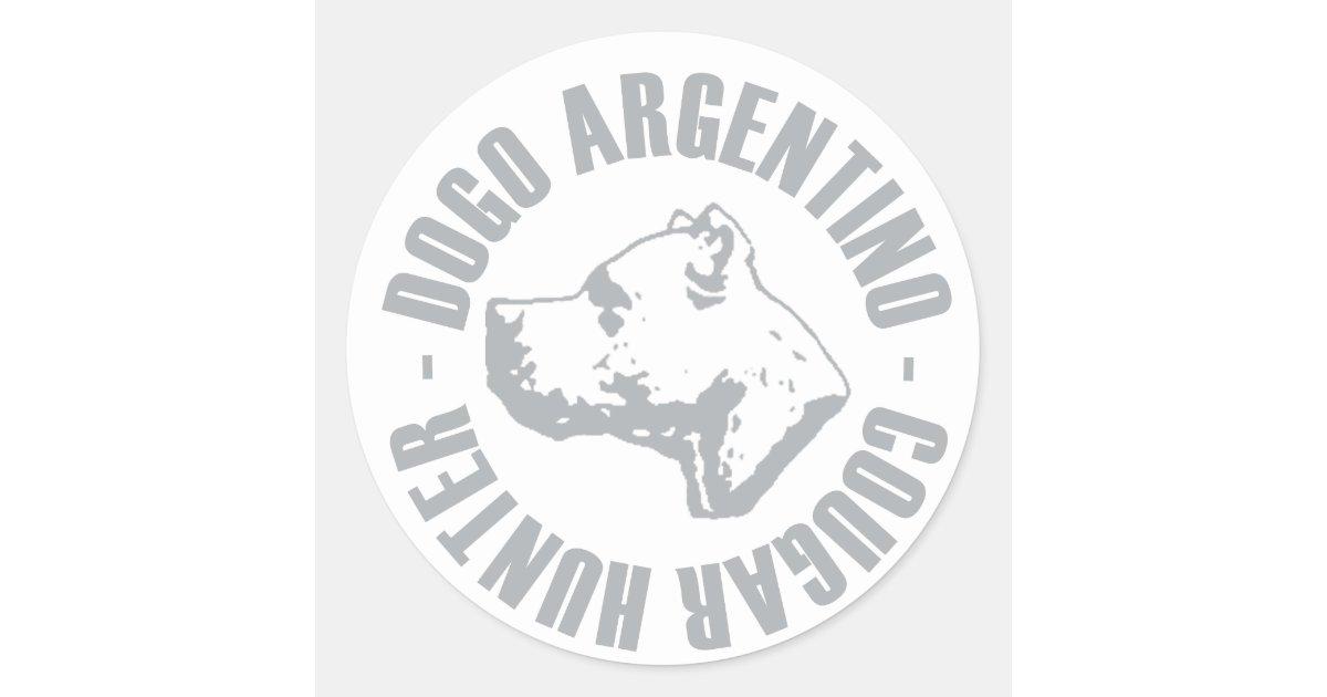 PEGATINA REDONDA CAZADOR DEL PUMA DE DOGO ARGENTINO ...