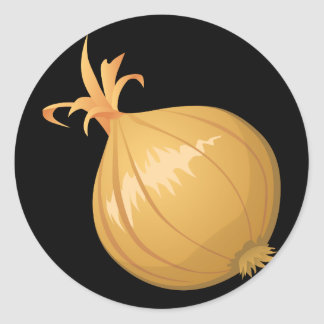 Pegatina Redonda Cebolla de la comida de la interferencia