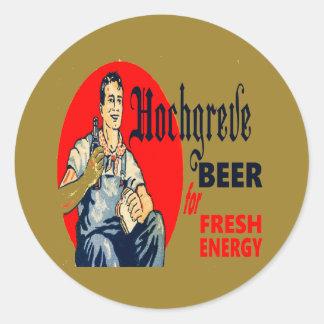 Pegatina Redonda Cerveza de Hochgreve