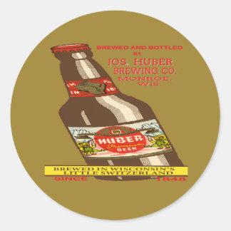 Pegatina Redonda Cerveza de Huber