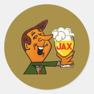 Pegatina Redonda Cerveza de Jax