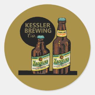 Pegatina Redonda Cerveza de la exportación de Kessler