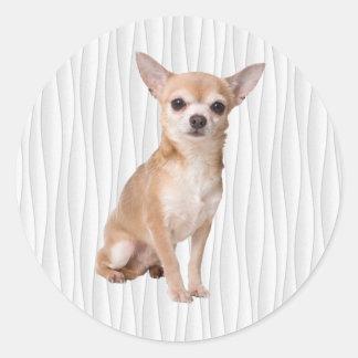 Pegatina Redonda Chihuahua
