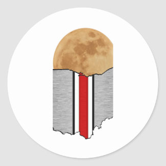 Pegatina Redonda Claro de luna de Ohio