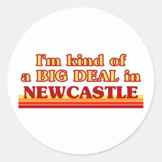 Pegatina Redonda Clase de I´m de una gran cosa en Newcastle