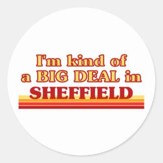 Pegatina Redonda Clase de I´m de una gran cosa en Sheffield