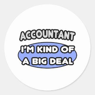 Pegatina Redonda Clase del contable… de una gran cosa