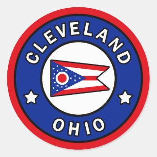 Pegatina Redonda Cleveland Ohio