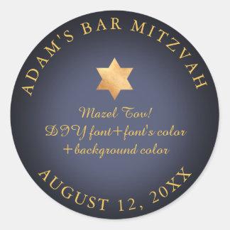 Pegatina Redonda Color de la barra Mitzvah/del palo Mitzvah/DIY de