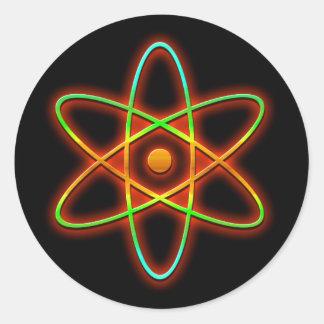 Pegatina Redonda Concepto atómico