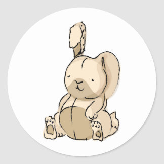 Pegatina Redonda conejo
