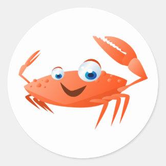 Pegatina Redonda Connor el cangrejo