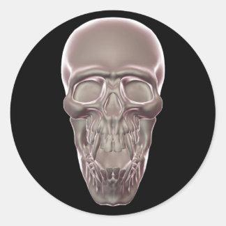 Pegatina Redonda Cráneo de Champán