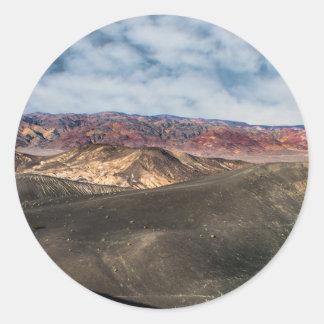 Pegatina Redonda Cráter Death Valley de Ubehebe