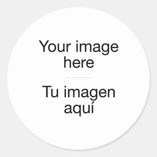 Pegatina Redonda Crea tu diseño personalizado con tus fotos propias