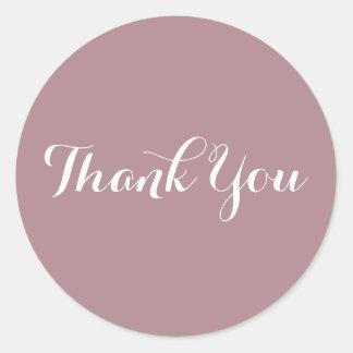 Pegatina Redonda Cree su propio rosa polvoriento le agradecen