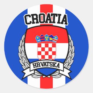 Pegatina Redonda Croacia