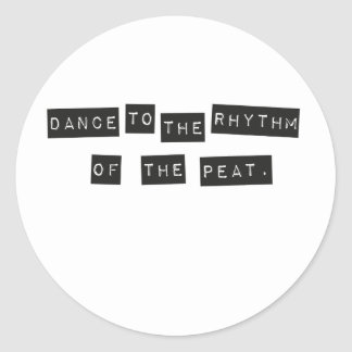 Pegatina Redonda Danza al ritmo de la turba