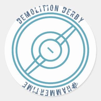 Pegatina Redonda Demolición Derby - estación azul