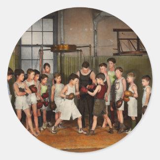 Pegatina Redonda Deporte - boxeo - puños de la furia 1924