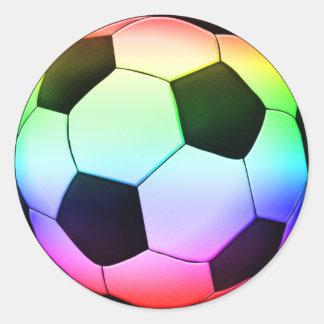 Pegatina Redonda Deporte del fútbol del fútbol el | de Colorfull