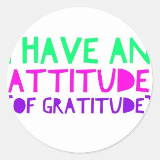 Pegatina Redonda Detox AA de la recuperación de la gratitud de la