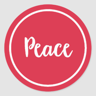 Pegatina Redonda Día de fiesta de la paz el |