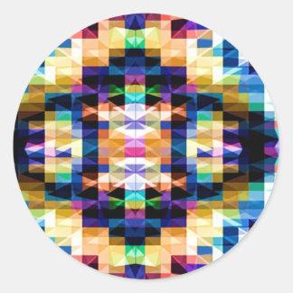 Pegatina Redonda Diamante brillante de Raibow - mandala V6 de la