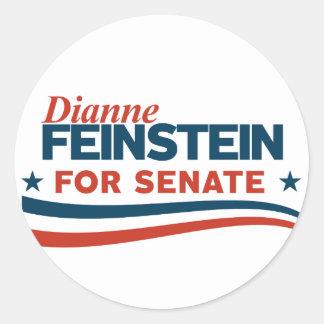 Pegatina Redonda Dianne Feinstein para el senado