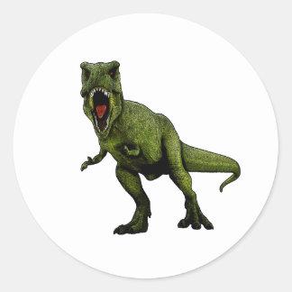 Pegatina Redonda Dinosaurios T-Rex
