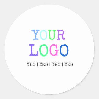 Pegatina Redonda Diseñe su propio logotipo personalizado