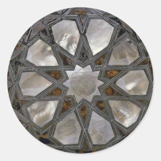 Pegatina Redonda Diseños del vidrio