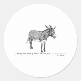 Pegatina Redonda DIY DonkeyUnicorn ver2