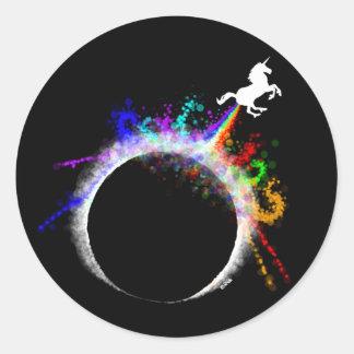 Pegatina Redonda Eclipse totalmente mágico