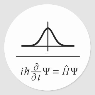 Pegatina Redonda Ecuación de Schrödinger