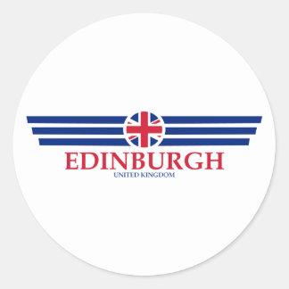 Pegatina Redonda Edimburgo