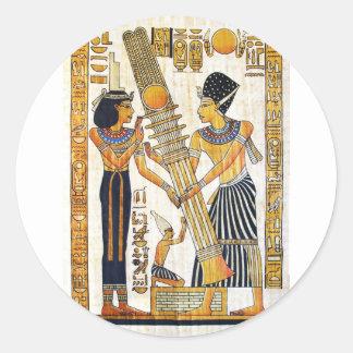 Pegatina Redonda Egipto antiguo 1