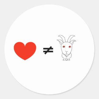 Pegatina Redonda El amor no es ninguna Billy-Cabra