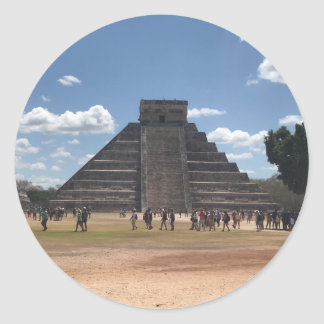 Pegatina Redonda EL Castillo - Chichen Itza, pegatinas de México #2