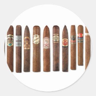 Pegatina Redonda El cigarro rema //