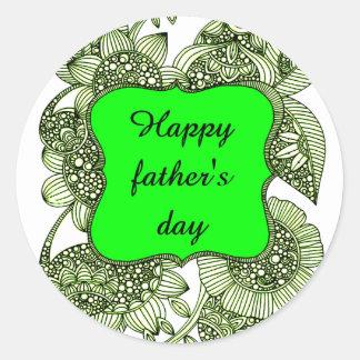 Pegatina Redonda El día de padre feliz