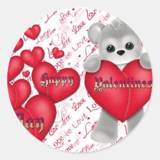 Pegatina Redonda El día de San Valentín